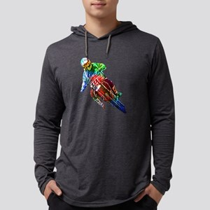Super Crayon Colored Dirt Bike Long Sleeve T-Shirt