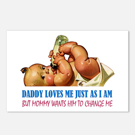 DADDY LOVES ME Postcards (Package of 8)
