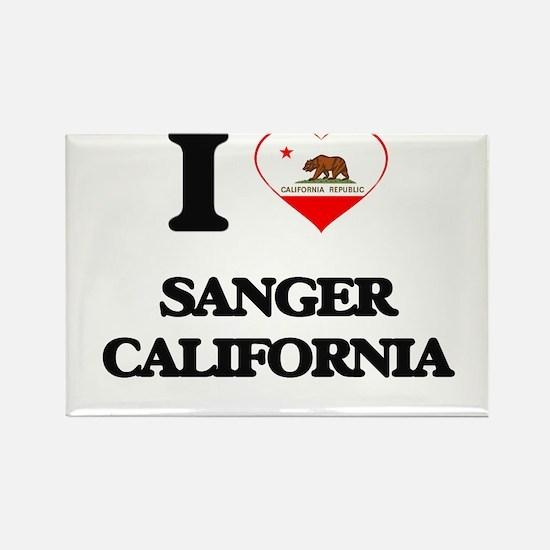 I love Sanger California Magnets