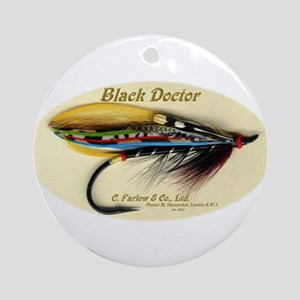 Farlow Salmon Fly Ornament (Round)