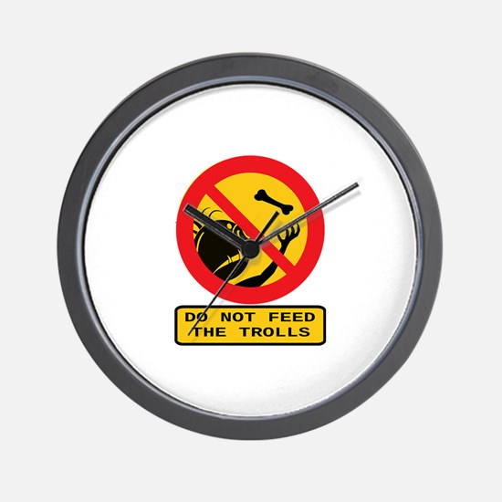 Don't Feed the Trolls Wall Clock