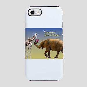 Happy Birthday Zoo Animals iPhone 7 Tough Case