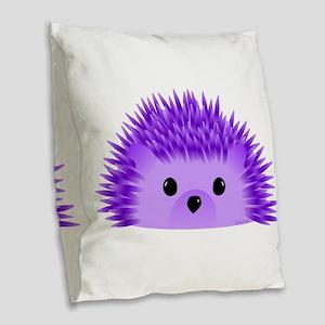 Redgy the Hedgehog Burlap Throw Pillow