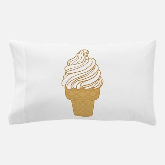 Soft Serve Ice Cream Cone Pillow Case