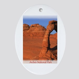Delicate Arch Oval Ornament