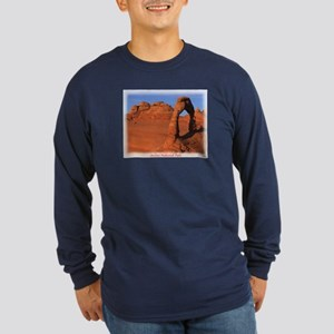 Delicate Arch Long Sleeve Dark T-Shirt