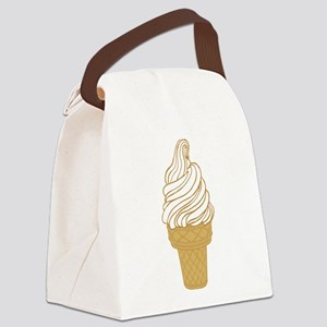 Soft Serve Ice Cream Cone Canvas Lunch Bag