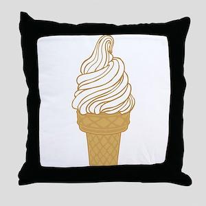 Soft Serve Ice Cream Cone Throw Pillow