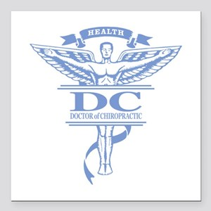 """Chiropractic Square Car Magnet 3"""" x 3"""""""