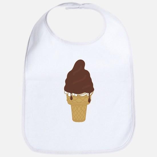Chocolate Dip Ice Cream Cone Bib