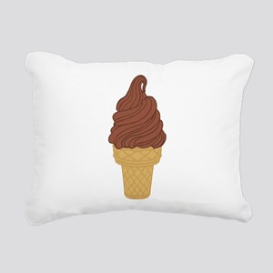 Chocolate Soft Serve Ice Rectangular Canvas Pillow