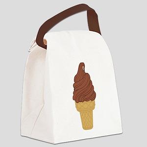 Chocolate Soft Serve Ice Cream Co Canvas Lunch Bag
