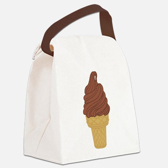 Chocolate Soft Serve Ice Cream Co Canvas Lunch Bag