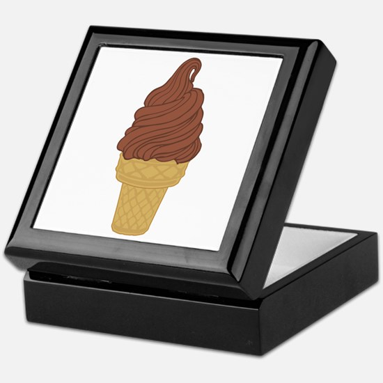 Chocolate Soft Serve Ice Cream Cone Keepsake Box