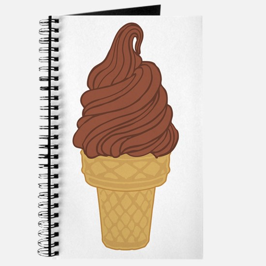 Chocolate Soft Serve Ice Cream Cone Journal