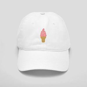 Pink Strawberry Ice Cream Cone Cap