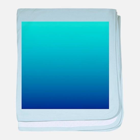 aqua blue ombre baby blanket