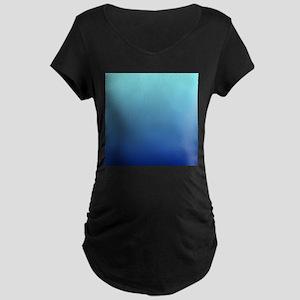 aqua blue ombre Maternity T-Shirt
