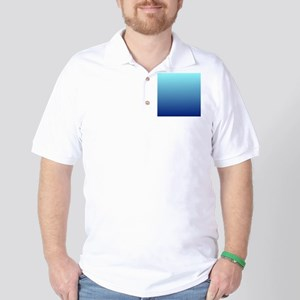 aqua blue ombre Golf Shirt