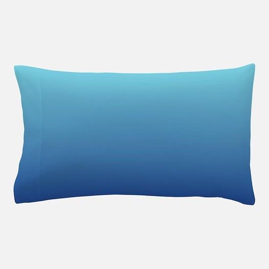 aqua blue ombre Pillow Case