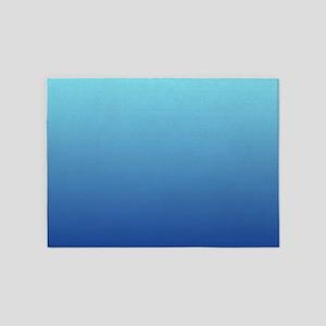aqua blue ombre 5'x7'Area Rug
