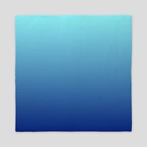 aqua blue ombre Queen Duvet
