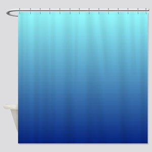 aqua blue ombre Shower Curtain