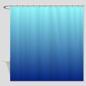 Aqua Blue Ombre Shower Curtain