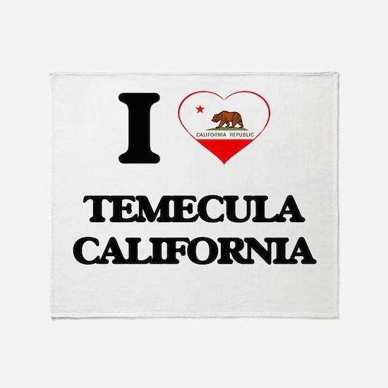 I love Temecula California Throw Blanket