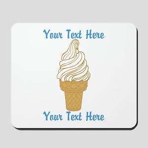 Personalized Ice Cream Cone Mousepad