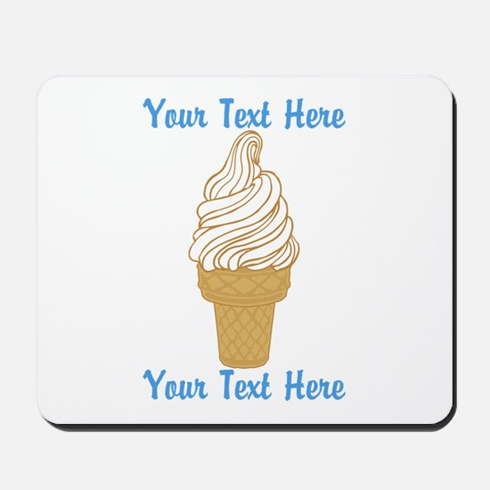 Personalized Ice Cream Cone Mousepad