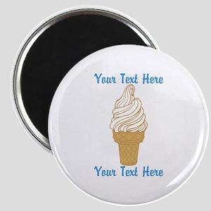 Personalized Ice Cream Cone Magnet