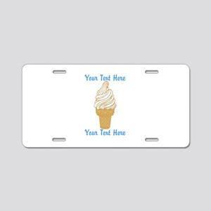 Personalized Ice Cream Cone Aluminum License Plate