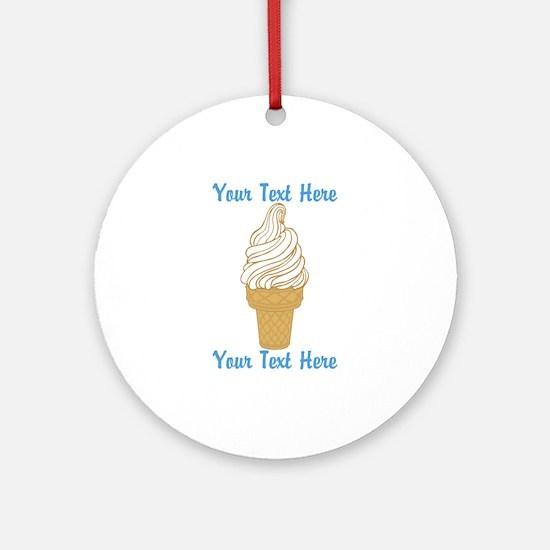 Personalized Ice Cream Cone Ornament (Round)