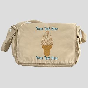 Personalized Ice Cream Cone Messenger Bag