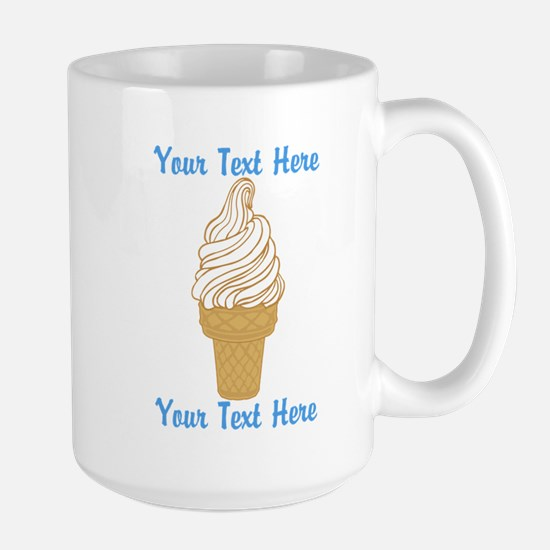 Personalized Ice Cream Cone Large Mug