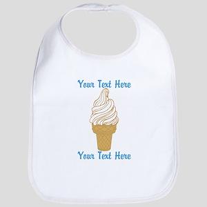 Personalized Ice Cream Cone Bib