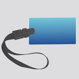 aqua blue ombre Large Luggage Tag