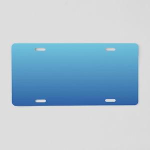 aqua blue ombre Aluminum License Plate