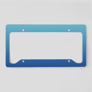 aqua blue ombre License Plate Holder