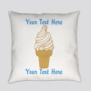 Personalized Ice Cream Cone Everyday Pillow