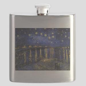 Van Gogh Starry Night Over The Rhone Flask