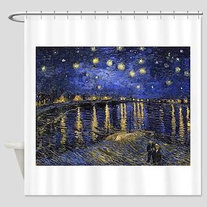 Van Gogh Starry Night Over The Rhon Shower Curtain