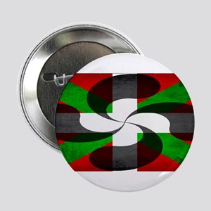 "Basque Flag and Cross 2.25"" Button"