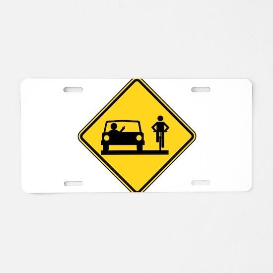 Road Rage Aluminum License Plate