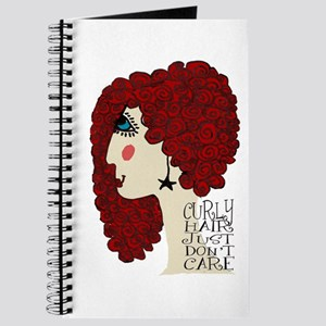 Curly Hair Just Don't Care Journal