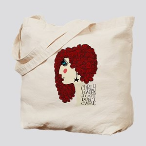Curly Hair Just Don't Care Tote Bag