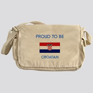 Proud to be Croatian Messenger Bag