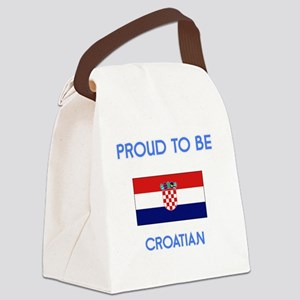 Proud to be Croatian Canvas Lunch Bag