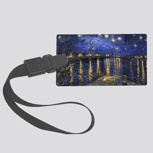 Van Gogh Starry Night Over The R Large Luggage Tag